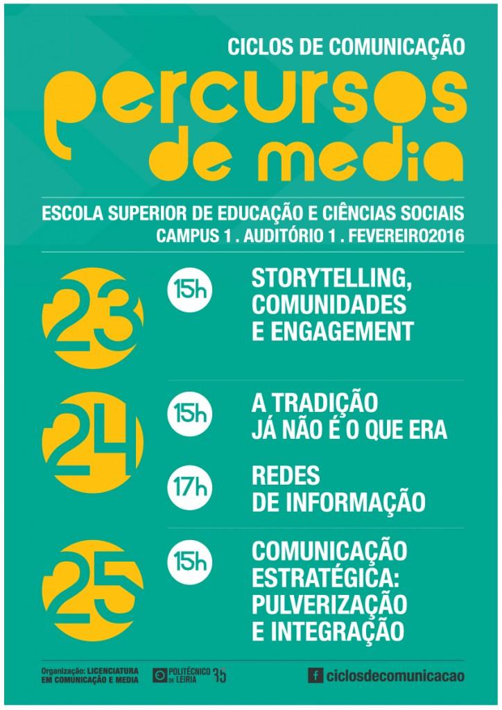 Cartaz - Ciclos de Comunicação 2016