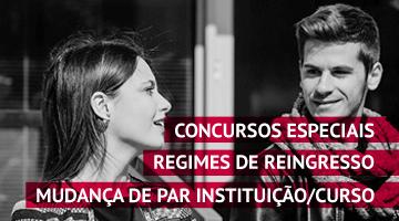 Concursos Especiais e regimes de Reingresso e Mudança de par Instituição/Curso 2016/2017