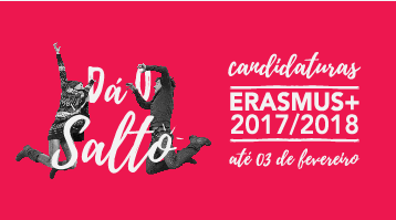 <strong>ERASMUS + 2017/2018: até 3 de fevereiro</strong><br>(candidatura)