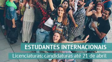 <strong>Estudantes Internacionais: Licenciaturas</strong><br>Candidaturas até 21 de abril