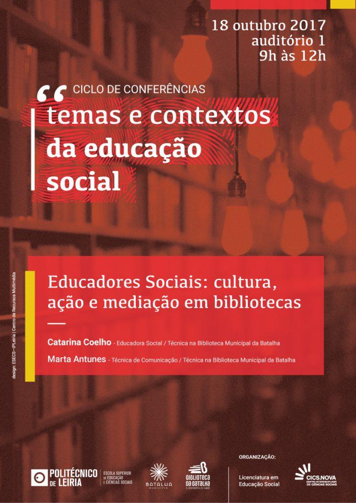 Cartaz_Conferencias_Temas_Contextos_Educacao_Social