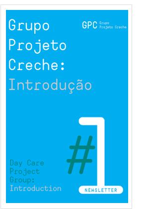 Newsletter 1 - Grupo Projeto Creche: Introdução