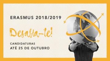 <strong>Eramus+ 2018/2019: Inscrições até 25 de outubro</strong>