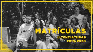 <strong>Matrículas Online: Licenciaturas 2019/2020</strong><br>a partir do dia 9 de setembro