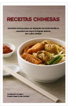 Receitas Chinesas escritas por alunos de Redação  em Português III