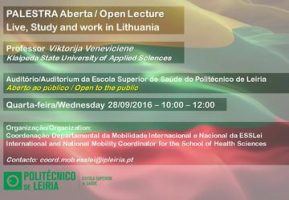 "Palestra Aberta ""Live, Work and Study in Lithuania"" – 28 de setembro"