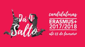 Candidata-te ao ERASMUS+ até 3 de fevereiro!