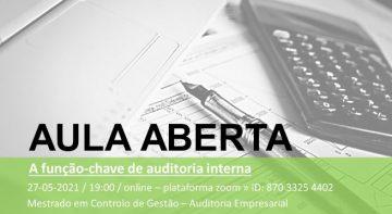 A função-chave de auditoria interna