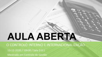 O controlo interno e internacionalização