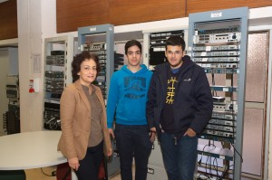 Visita de estudantes do secundário