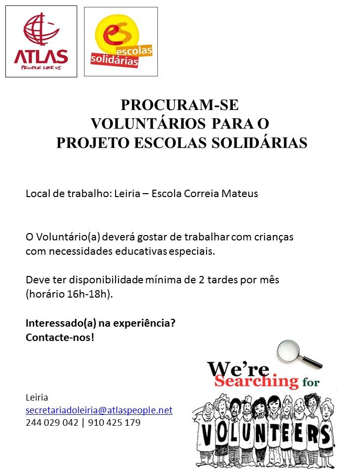 Voluntários para Projeto Escolas Solidárias
