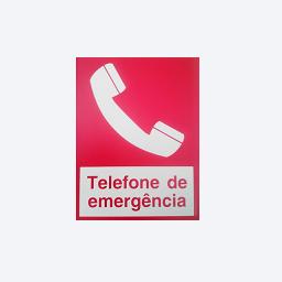 Sinalização dtelefone de emergência