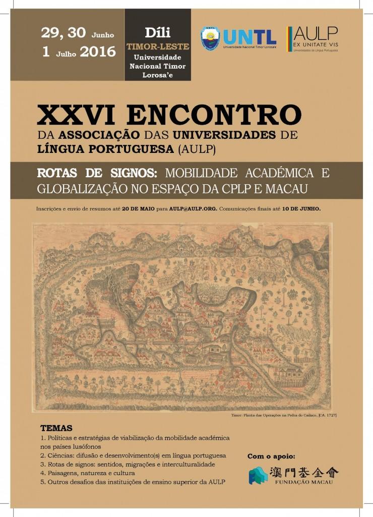 Cartaz XXVI Encontro AULP