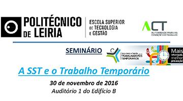 Seminário: A SST e o Trabalho Temporário