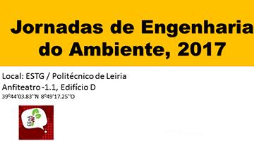 Jornadas de Engenharia do Ambiente 2017 Inscrição até 18 de abril