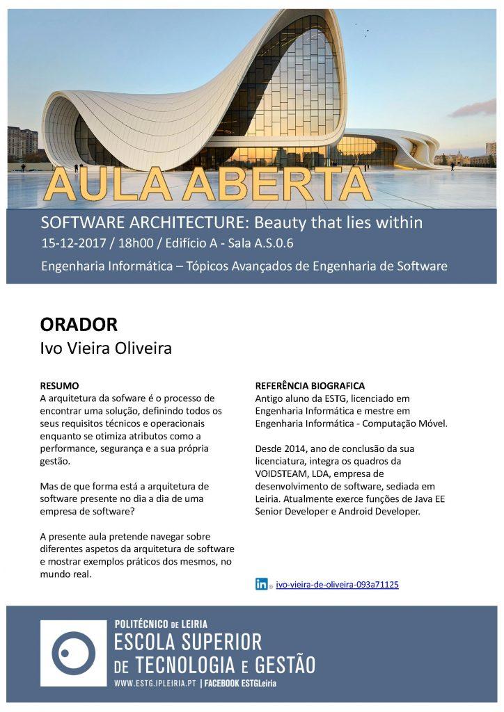 AulaAbertaInformatica_EI_TAES_CatarinaReis_SoftwareArchitecture_IvoOliveira