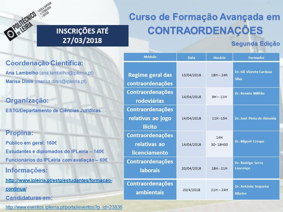 cartaz_curso_contraordenação_segunda_edição