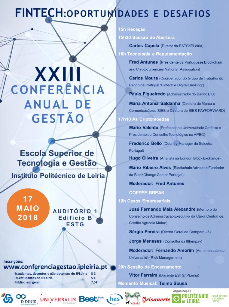 Cartaz XXIIIªConferência Anual de Gestão_ESTG_IPLeiria