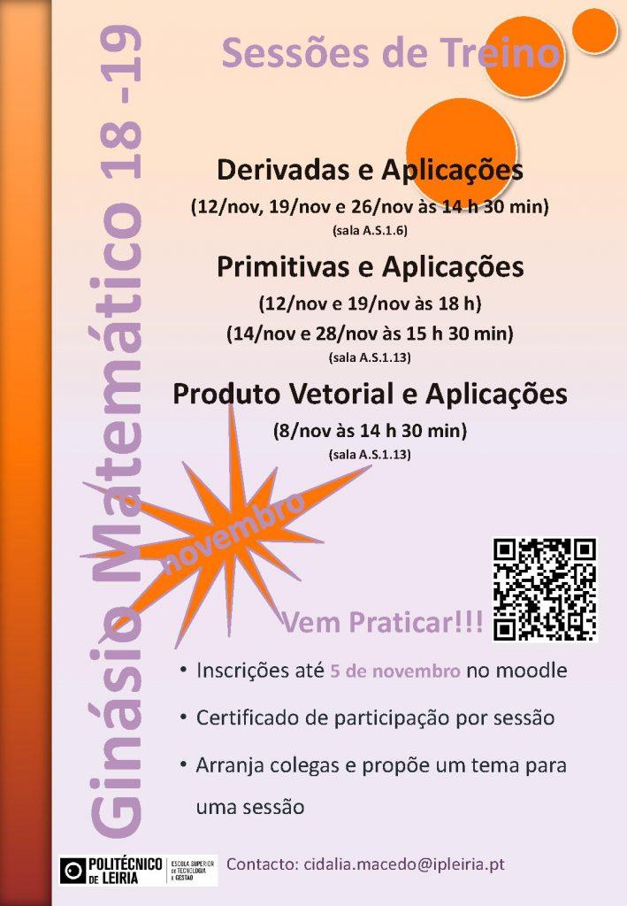 cartaz ginasio matematico 18 19 novembro