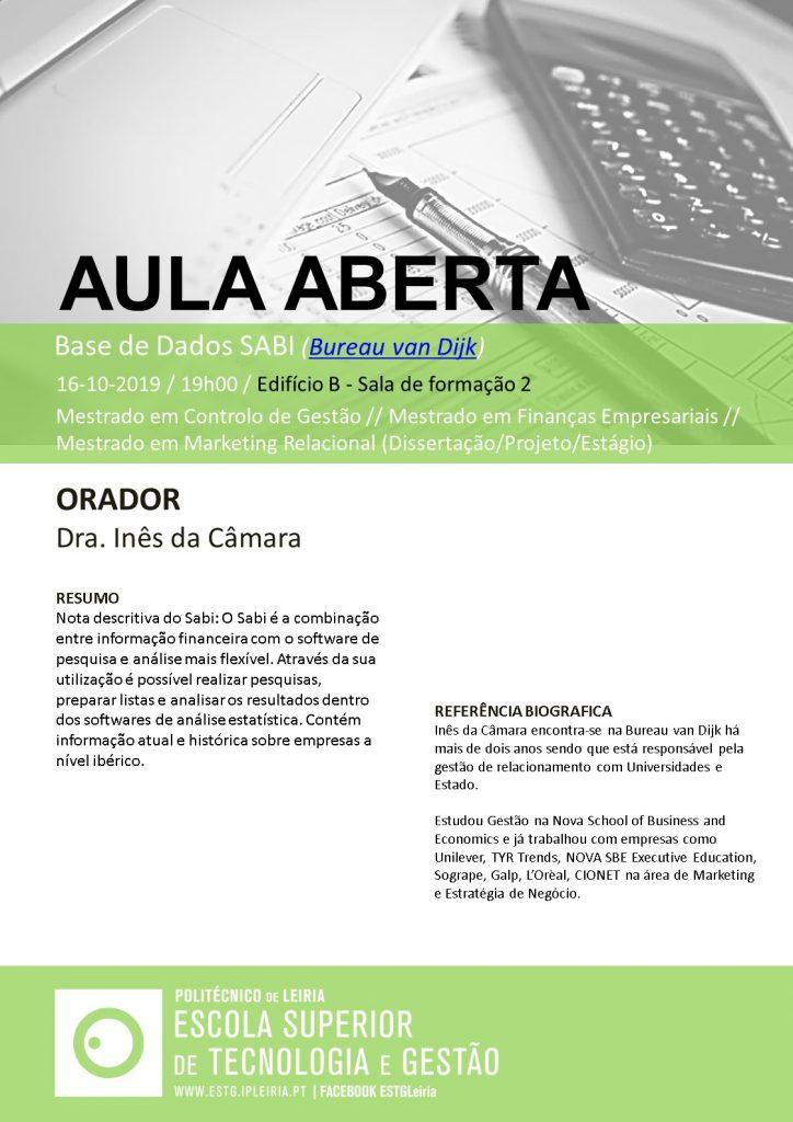 ESTG_Aula Aberta _SABI (16-10-2019)