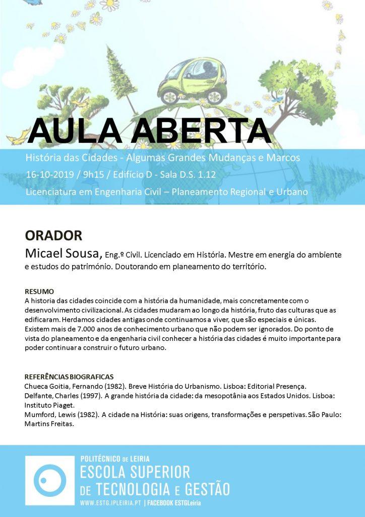 Aula Aberta Micael Sousa 16_10_2019