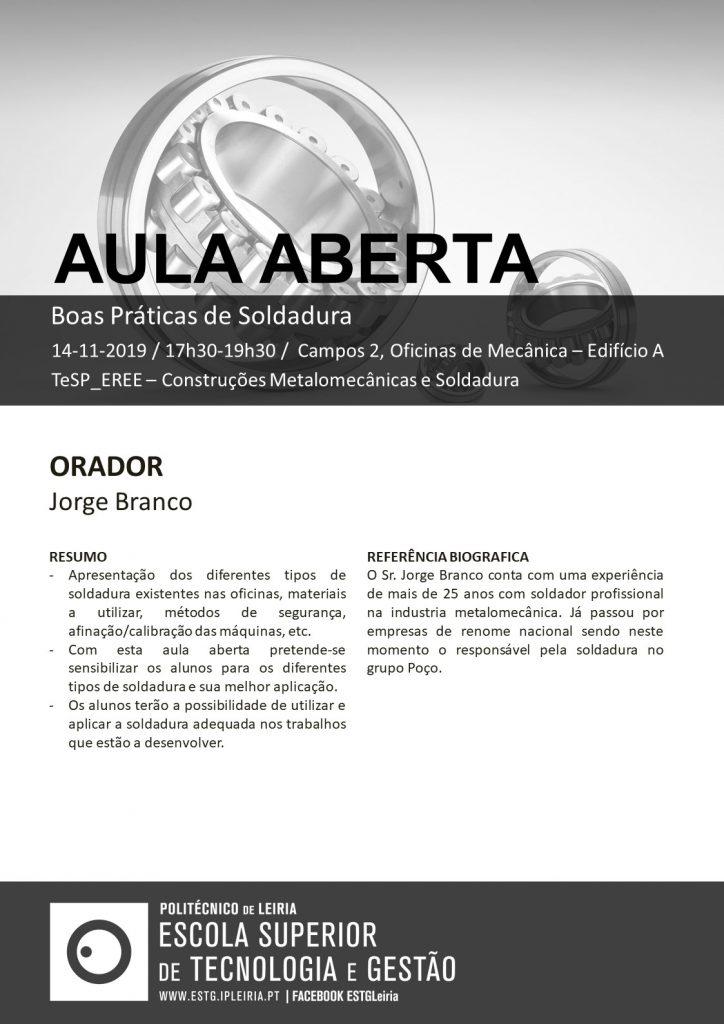 AulaAberta TeSP_EREE19-20 - Soldadura