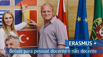 ERASMUS + candidaturas 2015/2017: Bolsas para pessoal docente e não docente