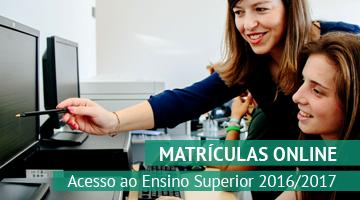 Matrículas online: Acesso ao Ensino Superior 2016/2017