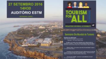 ESTM assinala Dia Mundial do Turismo    – 27 setembro | 14:30 horas