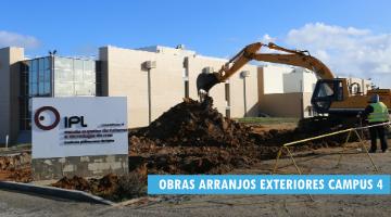 Obras de arranjos exteriores da ESTM –  campus 4 do IPLeiria