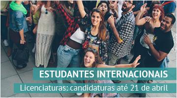 Estudantes Internacionais – Licenciaturas  Candidaturas até 21 de abril