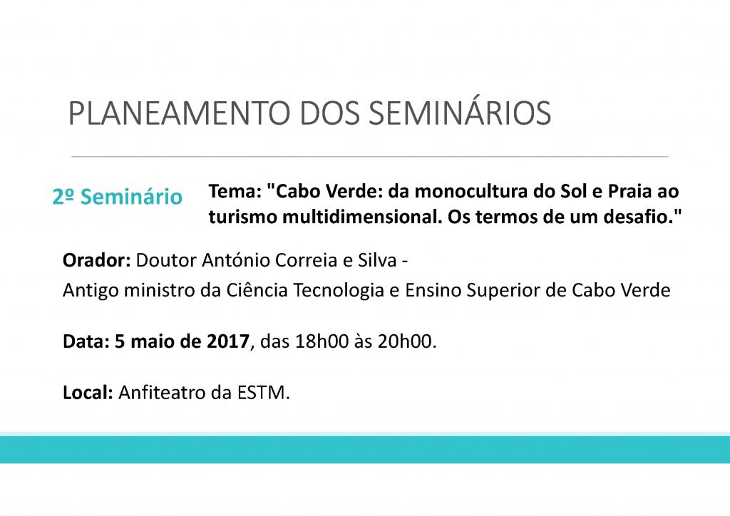 Apresentação - Seminários II - 2016-2017