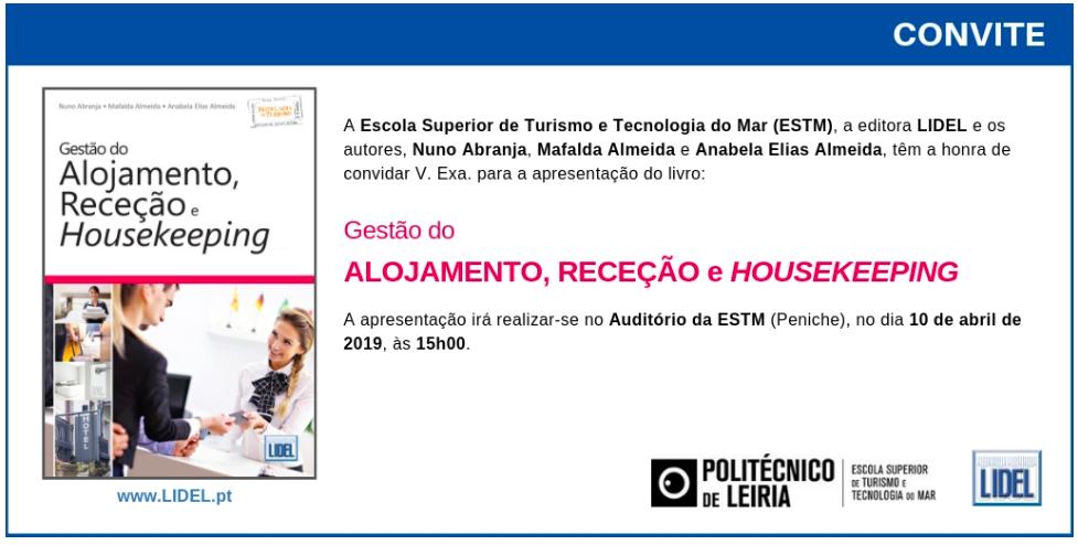 Convite_Apresentação_Livro_Gestão_Alojamento_Receção_Housekeeping