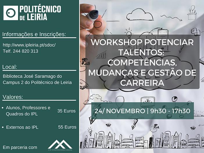 WS Potenciar Talentos- competências, mudanças e gestão de carreira